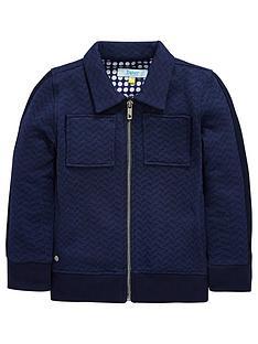 b206be22401e2 Baker by Ted Baker Boys Herringbone Sweat Jacket