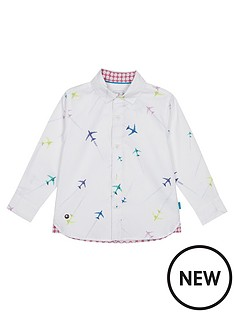 c723ef2a38cb45 Baker by Ted Baker Toddler Boys Airplane Long Sleeve Shirt