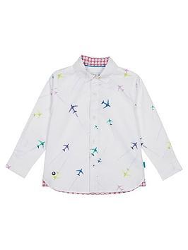 c0cef505c62dd Baker by Ted Baker Toddler Boys Airplane Long Sleeve Shirt ...
