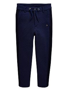 e5a1c1184 Baker by Ted Baker Boys Jersey Printed Chinos - Navy