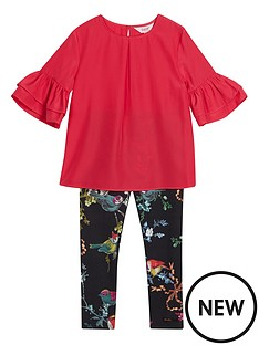 94861d92a3395 Baker by Ted Baker Girls Frill Sleeve And Legging Set