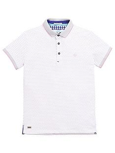 66fe0ffe38bc84 Baker by Ted Baker Boys Shadow Dot Short Sleeve Polo