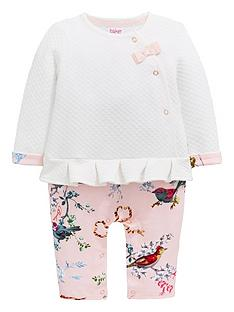d206e0e1a372 Baker by Ted Baker Baby Girls Mockable Romper - Off White