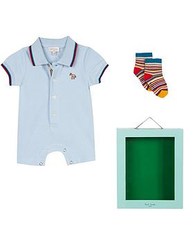 83fd83ac7 Paul Smith Junior Baby Boys Romper   Sock Gift Box. View larger .