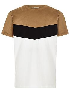 river-island-boys-brown-chevron-colour-block-t-shirt