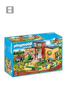 playmobil-playmobil-9275-city-life-tiny-paws-pet-hotel-with-flexible-outdoor-fence