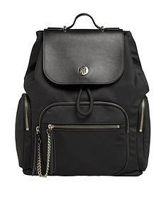 tommy-hilfiger-nylon-backpack-black