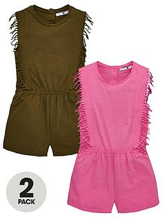 v-by-very-girls-2-pack-fringe-playsuitsnbsp--multi