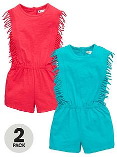 mini-v-by-very-girls-2-pack-fringe-playsuitsnbsp--multi