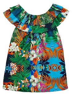 v-by-very-girls-bardot-tropical-print-dress-multi