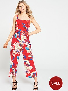 ax-paris-petite-floral-printed-pinafore-jumpsuit-red