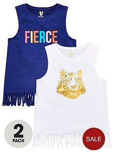 v-by-very-girls-2-pack-foil-tigerfierce-fringe-vests-multi