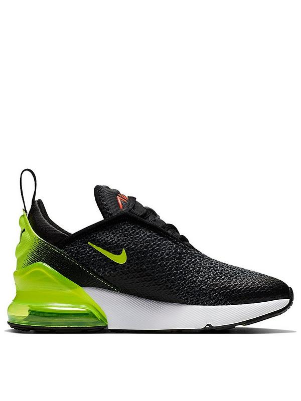 best sneakers d85bf a62a8 Air Max 270 Childrens Trainers - Black/Volt/Orange