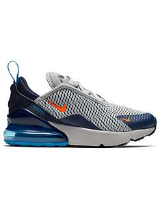6059d4df0746fd Nike Air Max 270 Childrens Trainers - Grey Orange