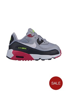 d5815b715b Nike Air Max 90 Mesh Infant Trainers - Grey/Pink | littlewoodsireland.ie