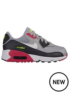 quality design 91ecb 220f4 Nike Air Max 90 Mesh Childrens Trainers - Grey Pink
