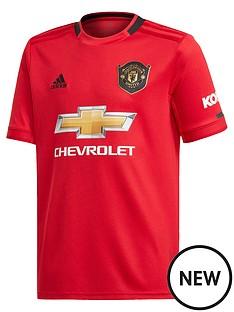 4330187e1e9 adidas Manchester United Junior 2019 20 Home Football Shirt - Red