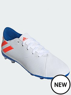 3a53c08a6 adidas Junior Nemeziz Messi 18.4 Firm Ground Football Boots - White