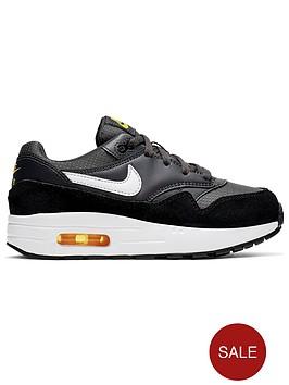 da0472b1b76e2 Nike Air Max 1 Childrens Trainers - Black/White | littlewoodsireland.ie