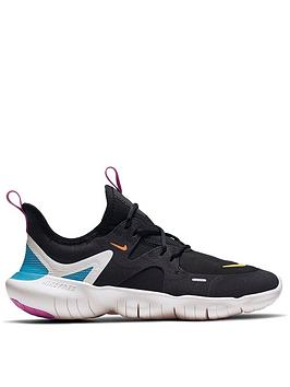 2d1ed38fe8b1 Nike Free Run 5.0 Junior Trainers - Black Orange
