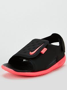 5475623066 Nike Sunray Adjust 5 Infant Sandals - Black/Pink