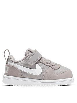 size 40 288af 026b4 Nike Court Borough Low Infants Trainers - Grey White