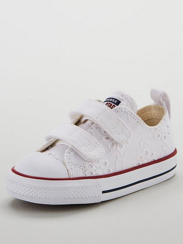Chuck Taylor All Star 2v Ox Infant Trainers WhiteNavy