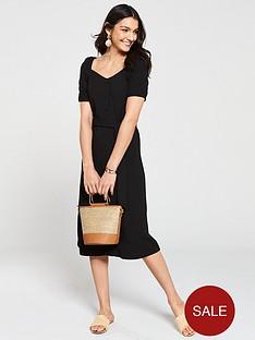 v-by-very-button-through-jersey-midi-dress-black