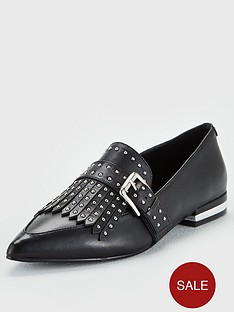 karen-millen-leather-loafers-black