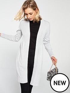 04640bb55b Wallis Wool Mix Rib Longline Cardigan
