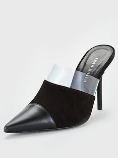 karen-millen-leather-mule-black