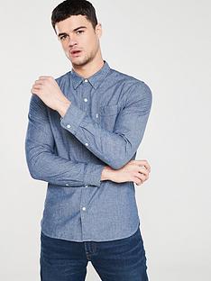 ae82a1f80b Levi s Classic One Pocket Long Sleeved Shirt - Indigo Chambray