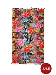 river-island-pink-jungle-animal-print-towel