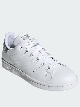 adidas-originals-stan-smith-junior-trainers-white-sparkle
