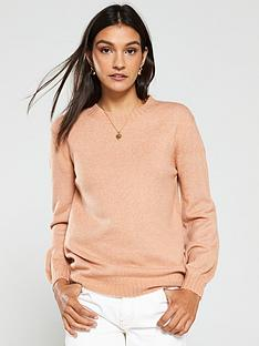 v-by-very-seam-detail-crew-neck-jumper-light-camel