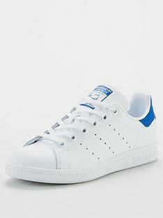 adidas-originals-stan-smith-junior-trainers-whiteblue