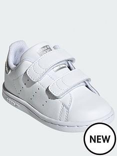 adidas-originals-stan-smith-infant-trainers-white-sparkle