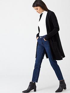 v-by-very-edge-to-edge-split-seam-cardigan-black