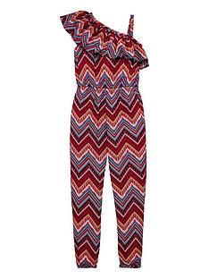 v-by-very-girls-ruffle-one-shoulder-jumpsuit-multi