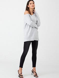 v-by-very-off-the-shoulder-slouch-zip-hem-longline-jumper-grey-marl