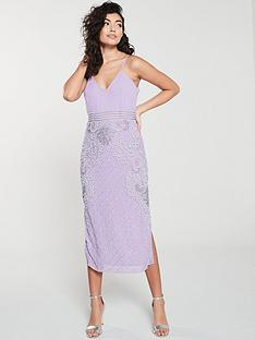 15d9ada2bc74d Frock and Frill Frock And Frill Frances cami midi dress with embellished  pencil skirt
