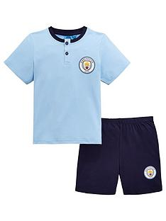 129f6f441 Character Manchester City Boys Shorty PJs - Blue