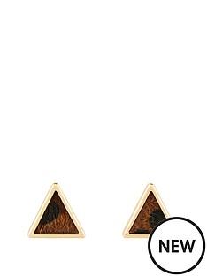 michelle-keegan-leopard-print-triangle-stud-earring-goldnbsp