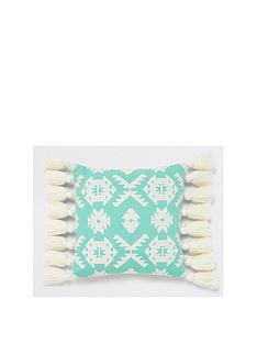 river-island-geo-embroidered-cushion