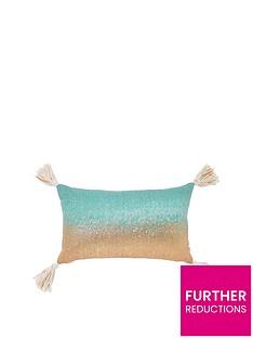 river-island-ombre-shimmer-tassel-cushion