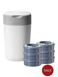tommee-tippee-tommee-tippee-twist-click-nappy-disposal-starter-kit