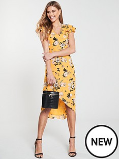 oasis-botanical-ochre-midi-dress-yellow
