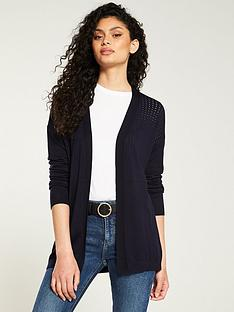 v-by-very-mesh-panel-edge-to-edge-cardigan-navy