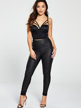 pour-moi-contradiction-strapped-strapless-padded-bustier-black