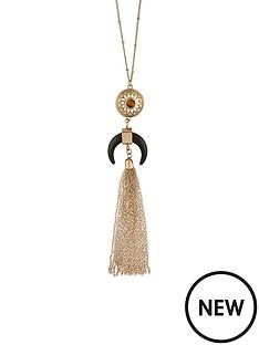 accessorize-statement-horn-long-pendant